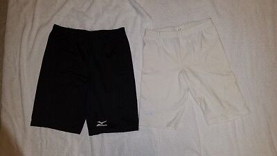 Black and White Compression Shorts