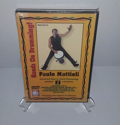 Paulo Mattioli: Hands On Drumming Session 2 [DVD, 2004] Beginner to Advanced NEW