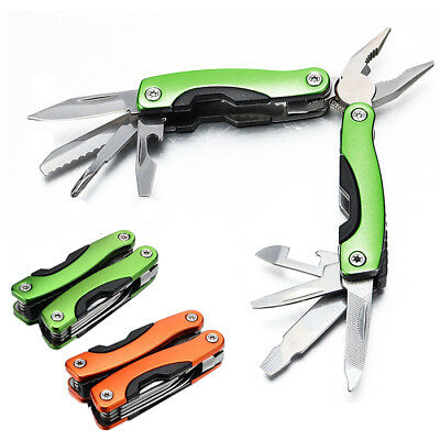 Mini Multi Tool Plier 9 In 1 Portable Stainless Steel Outdoor Pocket Camping Kit