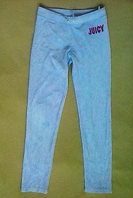 Girls Size XL Juicy Couture Light Blue Terry Cloth Casual Lounge Pants
