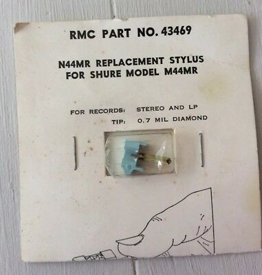 Vintage NOS RMC Part No. 43469 Replacement Stylus For Shure Model M44MR