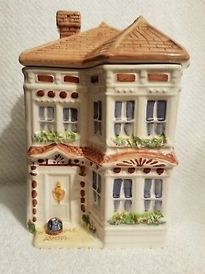 Vintage Avon Townhouse Canster Collection Cookie Jar  House  GUC