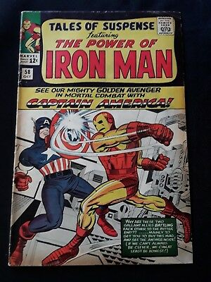 TALES OF SUSPENSE #58  Captain America debuts in title!