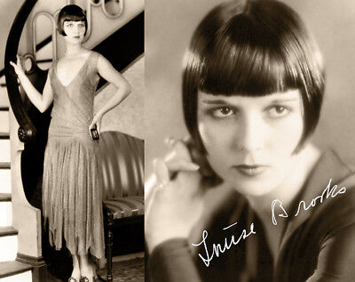 LOUISE BROOKS Early Film Actress Stylish Legend Photograph Autograph 8x10 RP