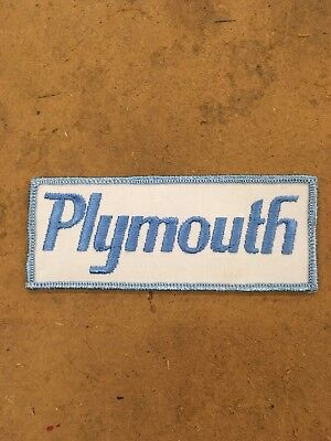 Vintage Plymouth Sew On Patch, New