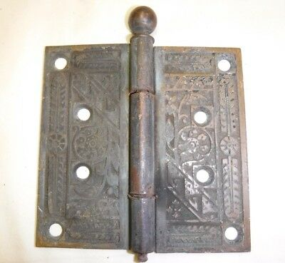 Antique Solid Brass Eastlake Door Hinge