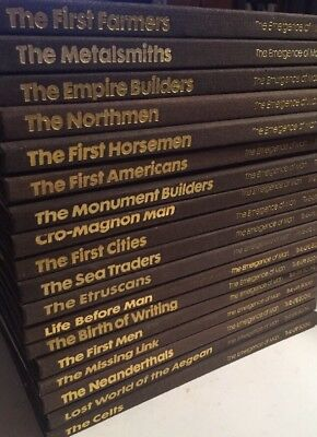 Lot Of 18 Books- The Emergence Of Man -TIME LIFE BOOKS Hardcovers-1972-1975