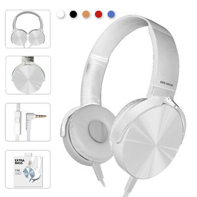 Ver-Ear Teens Foldable DJ Headphones 3.5mm Wired Bass Game Earphones WIth MIC X
