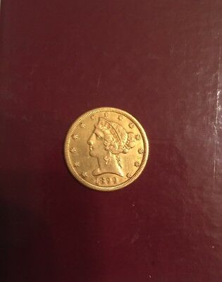1899 S United States Liberty Head Half Eagle Five D Gold Coin