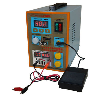 New 788H LED Dual Pulse Spot Welder Welding Machine Power Tool Battery Charger