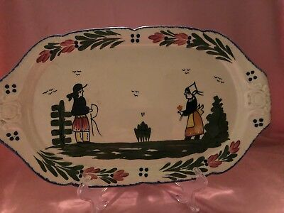 Blue Ridge Chocolate Tray in the French Peasant Pattern