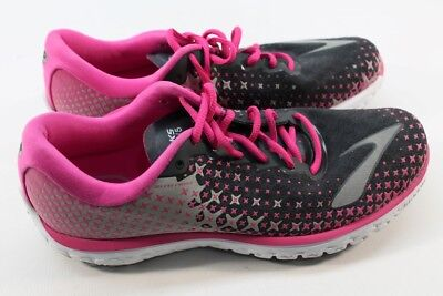 b61cad7182be7 Brooks PureFlow 5 Women s Anthracite Pink Glow Alloy Road-Running Shoe 11M