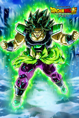 Dragon Ball Super Poster Broly Movie 2018 Broly Angry 12inx18in Free Shipping