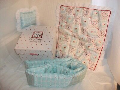 """Pleasant Company American Girl """"our New Baby"""" Bitty Baby Bedding For Crib, Nib"""