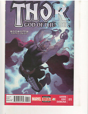 "THOR GOD OF THUNDER #11 ""GODBOMB"" CONCLUSION, 1st Print, NM, (Sep. 2013, Marvel)"