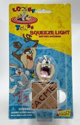 Vintage 1996 Looney Tunes Squeeze Light Taz Warner Brothers New In Box Sealed