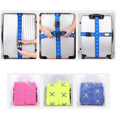 2/4x Adjustable Travel Luggage Suitcase Bag Packing Secure Safe Strap Belt Lock