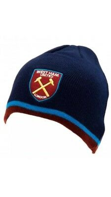 08e6b281cf1 West Ham United Fc Adult Beanie Knitted Hat - Official Xmas Hat Christmas  Gift