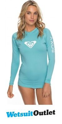 204205ec47 2018 Roxy Womens Wholehearted Long Sleeve Rash Vest AQUARELLE ERJWR03221