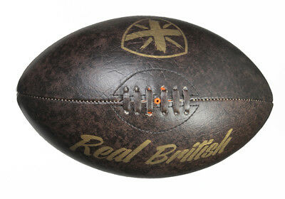 RUGBY ball Vintage Leather look PU - BRAND NEW