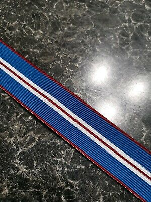 Queens Golden Jubilee Full Size Medal Ribbon 1 metre (free postage)