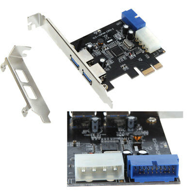 2 Port PCI-E to USB 3.0 HUB PCI Express Expansion Card Adapter 5 Gbps Speed M0E2