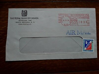 Dominican Republic 1974 commercial Air Mail cover