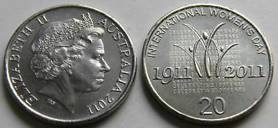 Australia 2011 20 Cents International Woman's Day UNC from roll - #MR2011 11
