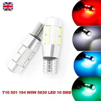 T10 501 W5W Car Side Light Bulbs Error Free Canbus10Smd Led Xenon Hid