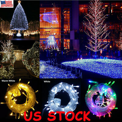 10M 100 LED Xmas Christmas Party In/Outdoor Fairy String Lights Plug Operated US
