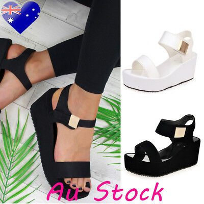 Women Ladies Sandals Wedge Casual Beach Slippers Shoes Thick Heels Casual