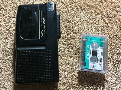 Panasonic VAS RN-302 Tape Recorder Voice Activated Operated MicroCassette + Tape