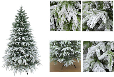 Real Look Designer Artificial Christmas Tree Snow Covered Xmas Decorations