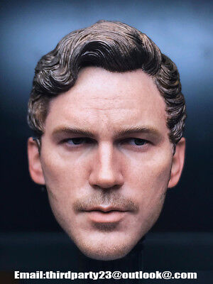 1/6 Star Lord  Chris Pratt head Guardians of the Galaxy for hot toys phicen gift