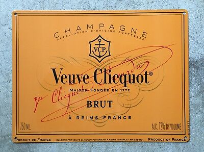 Veuve Clicquot Brut Champagne Bubbly Reims France Vintage Poster Metal Sign
