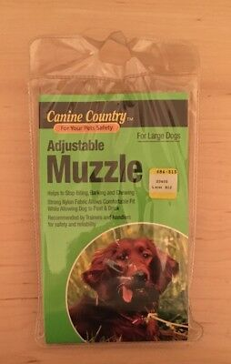 NEW Canine Country Adjustable Large Dog Muzzle - Helps Dogs Stop Biting, Barking