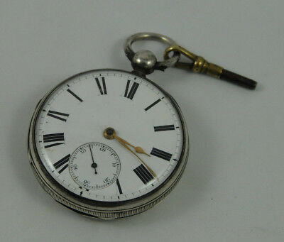 Vintage Silver Fusee Pocket Watch by Joseph Hirst, London 1867 *Ex Working Ord*