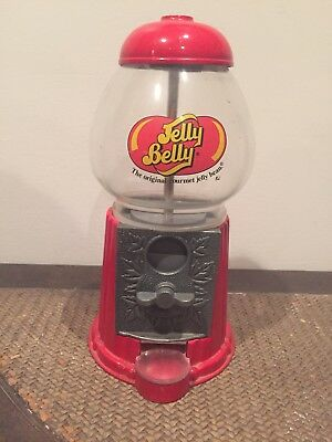 Jelly Belly Mini Bean Machine Candy Dispenser Bank Die Cast Metal w/Glass Globe