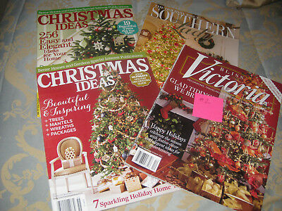 LOT of 4 Christmas magazines-Victoria--Southern Lady- Chirstmas Ideas  #2