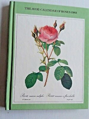Vintage Avon Calendar of Roses for 1983  HARDCOVER BOOK