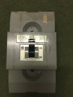 wylex rcd circuit breaker 240v 50hz 80 a load 30 am trip