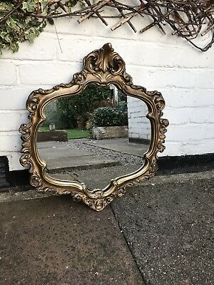 Antique Gold Rocco Ornate Wall Mirror Dressing Bathroom Oval Wall Mirror