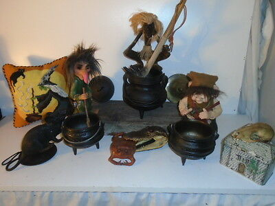 Halloween Best Duty Cast Iron Cauldron Potjie Pots  Witch Druid Gypsy
