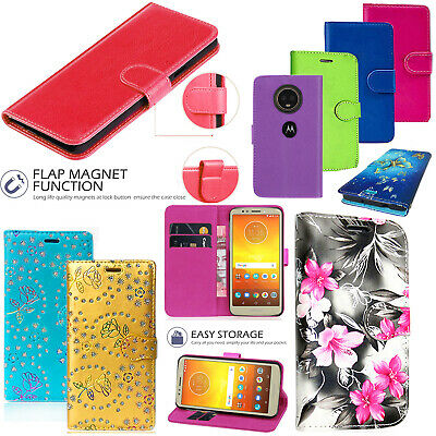 Motorola Moto E5 Play Shockproof Leather Wallet Magnetic Flip Stand Case Cover