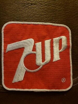 7 UP Square Patch Red & White 5.5 Inches