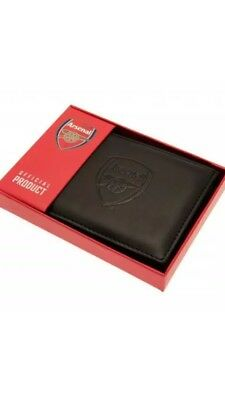 Arsenal FC Official Debossed Leather Wallet Christmas Gift Dad Father