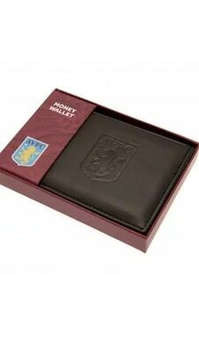 Aston Villa FC Official Debossed Leather Wallet Christmas Gift Dad Father