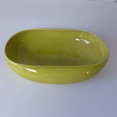 Russel Wright Steubenville Chartreuse Vegetable Dish  American Mid Century