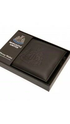 Newcastle United FC Official Debossed Leather Wallet Christmas Gift Dad Father