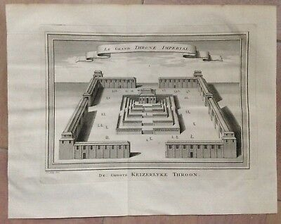 China The Palace Imperial 1749 Bellin-Van Schley Antique Engraved Plan 18Th Cent